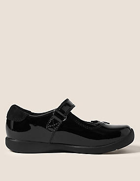 Kids Patent Leather T-Bar School Shoes (8 Small - 1 Large)