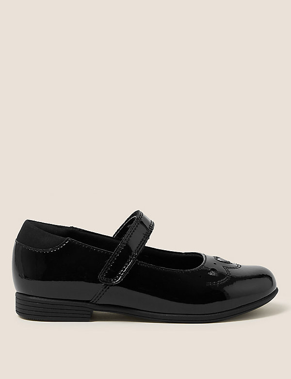 Kids' Leather Riptape School Shoes (8 Small - 1 Large)
