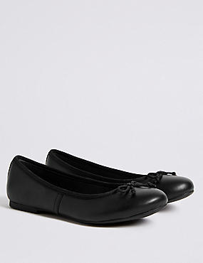 Kids' Leather Ballet Pumps with Freshfeet™ (13 Small - 9 Large)