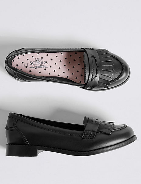 Kids' Leather Loafers with Freshfeet™ (13 Small - 7 Large)