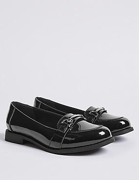 Kids' Leather Patent Loafers (13 Small - 7 Large)