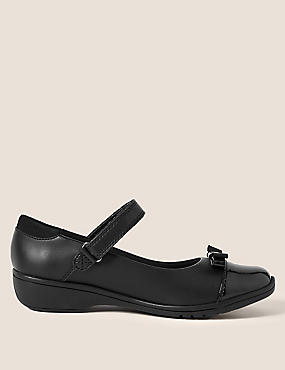 Kids' Leather Wedge School Shoes (13 Small - 7 Large)