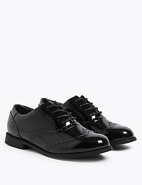 Kids' Leather Brogue School Shoes (13 Small - 7 Large)