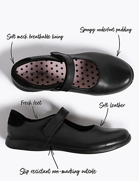 Kids' Leather School Shoes (13 Small - 7 Large)