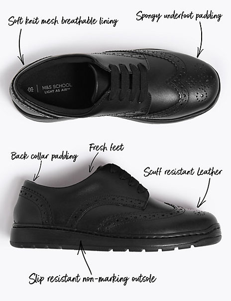 Kids' Light As Air™ Leather Shoes (13 Small - 7 Large)