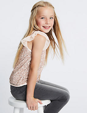 Sequin Shell Top (3 - 16 Years)