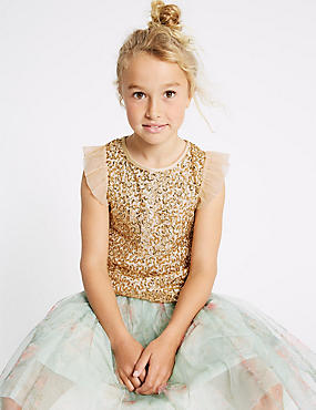 Sequin Shell Top (3-16 Years)