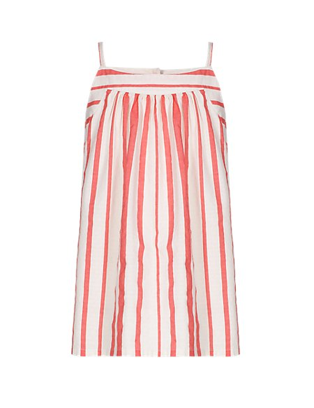 Pure Cotton Striped Girls Camisole Blouse (5-14 Years)