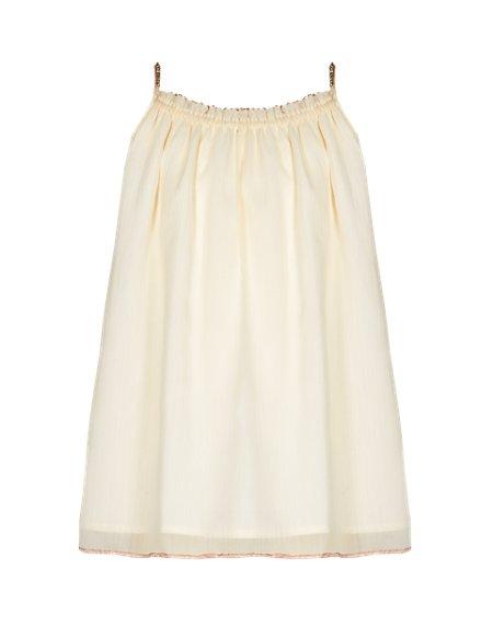 Sequin Embellished Trim Girls Vest