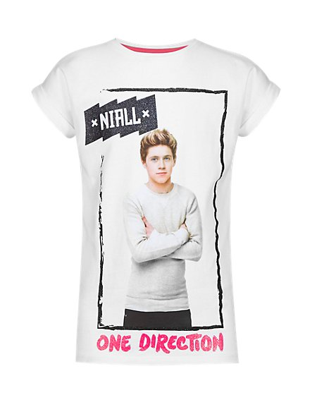 Pure Cotton One Direction Niall Girls T-Shirt (5-14 Years)