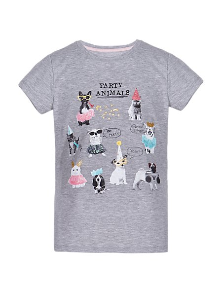 Party Animal Girls T-Shirt (5-14 Years)