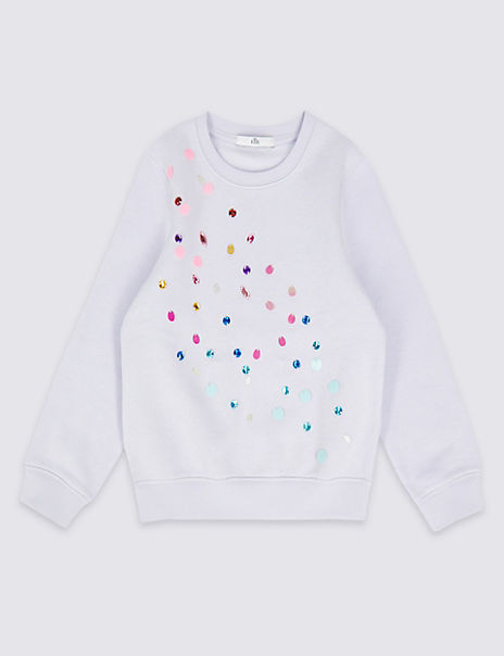 8dd8307c Product images. Skip Carousel. Cotton Rich Sequin Sweatshirt ...