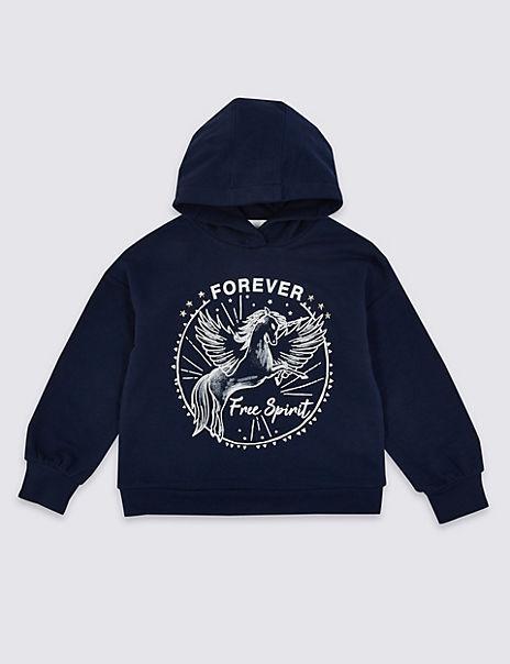 Forever Free Spirit Unicorn Hoodie (3-16 Years)