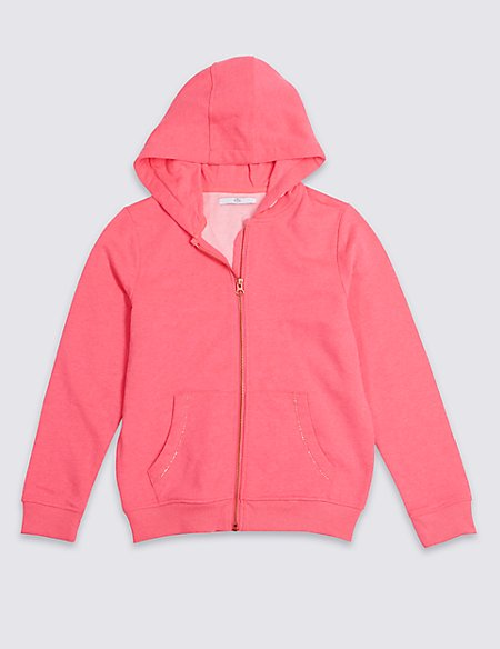 Cotton Blend Hooded Sweatshirt (3-16 Years)