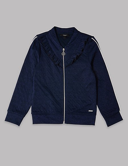 Cotton Rich Frill Bomber Jacket (3-16 Years)