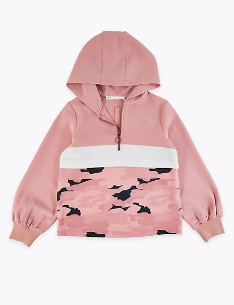 Camouflage Colour Block Zip Hoodie (6-16 Years)