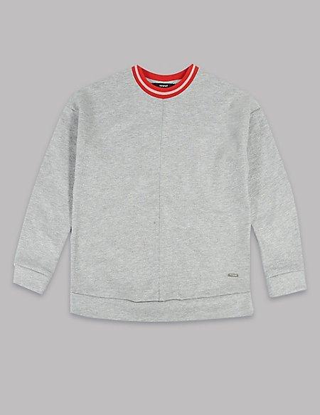 Cotton Rich Jersey Jumper (3-16 Years)