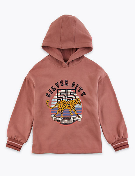 Leopard College Hooded Top (3-16 Years)