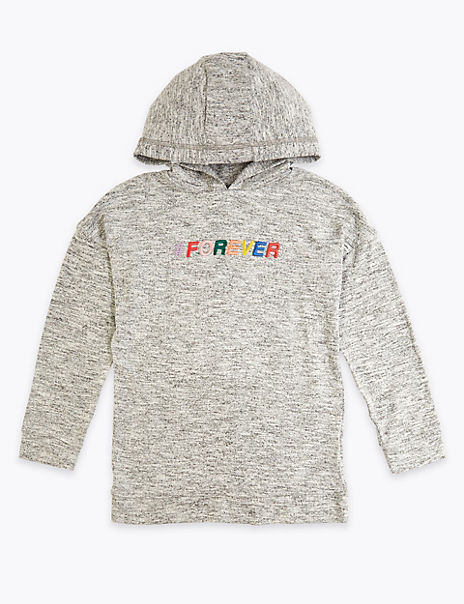 Embroidered Forever Slogan Hoodie (3-16 Years)