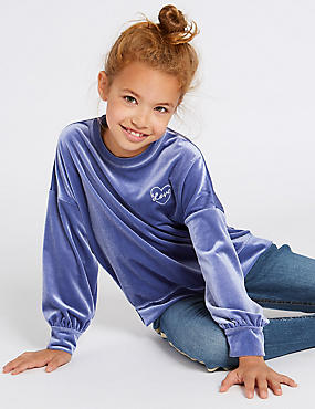 Velvet Sweatshirt (3-16 Years)