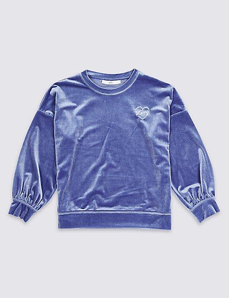 Velvet Sweatshirt (3-16 Years)