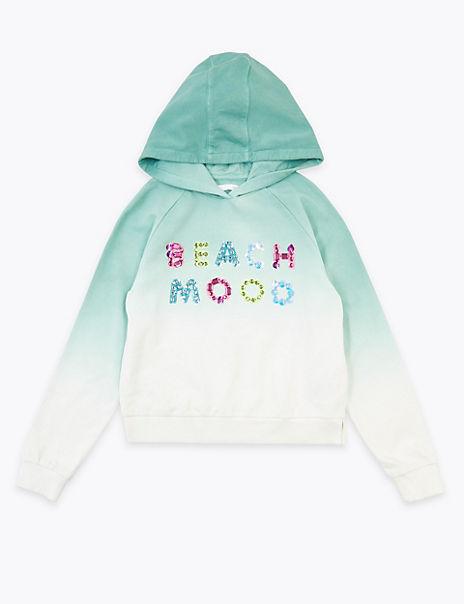 Sequin Beach Mood Slogan Sweatshirt (6-16 Years)