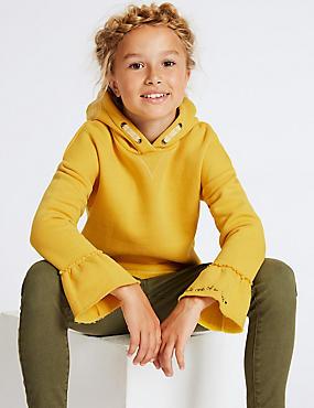 Fluted Sleeve Sweatshirt (3-16 Years)