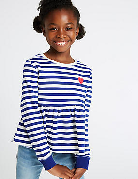 Cotton Rich Striped Sweatshirt (3-16 Years)