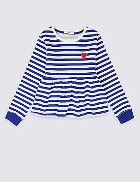 Cotton Rich Striped Sweatshirt (3-16 Years)