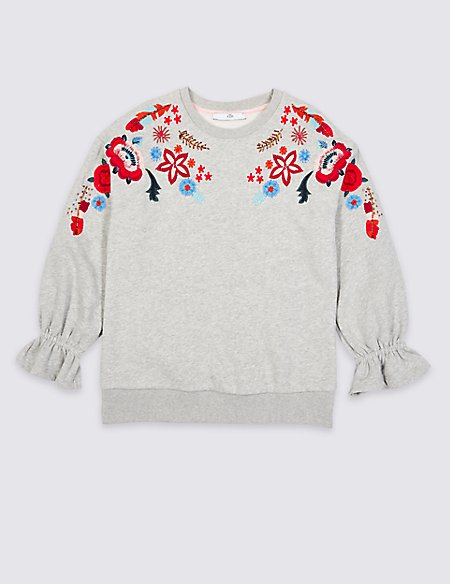 Embroidered Sweatshirt (3-16 Years)
