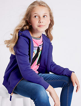 Cotton Rich Hooded Top (3-16 Years)