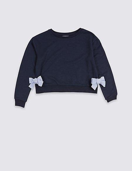 Side Bow Sweatshirt (3-16 Years)