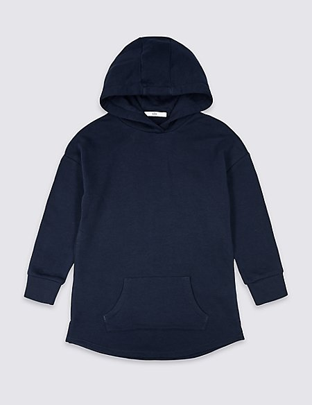 Longline Hooded Sweatshirt (3-16 Years)