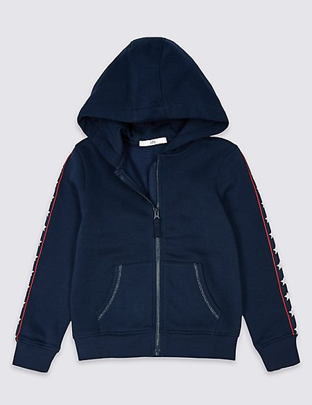 Cotton Rich Star Hooded Top (3-16 Years)