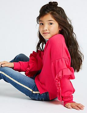 Cotton Rich Ruffle Sweatshirt (3-16 Years)