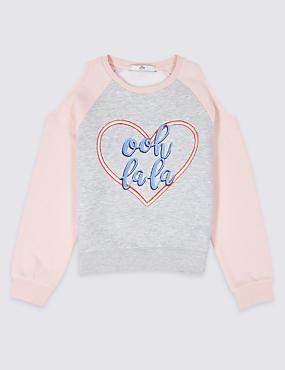 Cotton Rich Sweatshirt (3-16 Years)