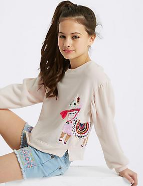 Cotton Rich Llama Sweatshirt (3-16 Years)