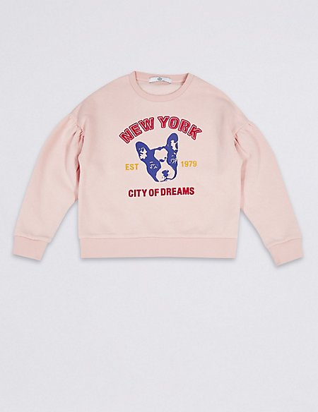 Cotton Rich Bulldog Sweatshirt (3-16 Years)