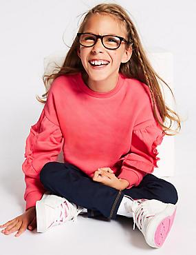Easy Dressing Ruffle Sweatshirt (3-16 Years)