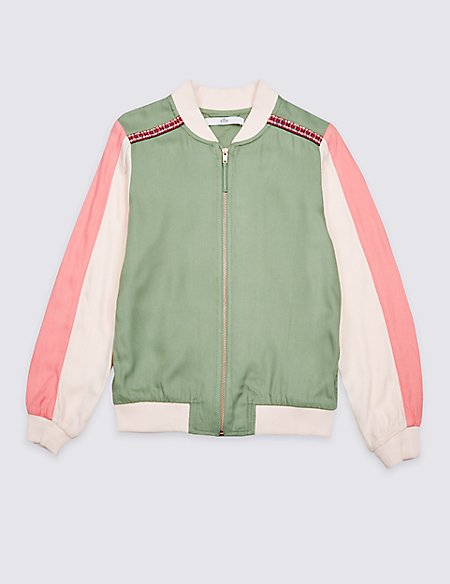 Embroidered Bomber Jacket (3-16 Years)