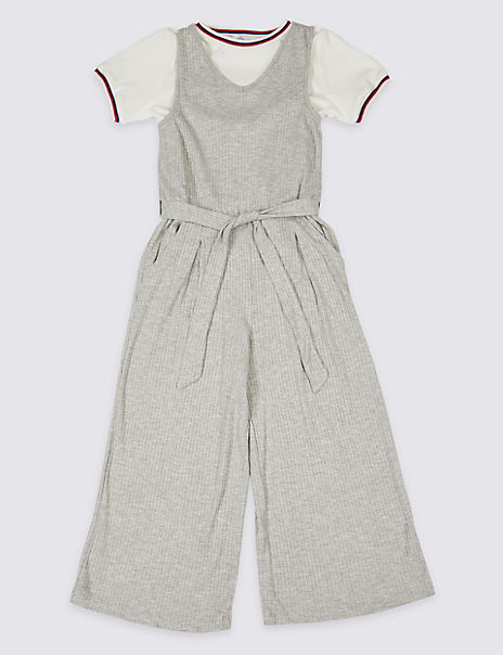 Tie Waist Jumpsuit with T-Shirt Outfit (3-16 Years)