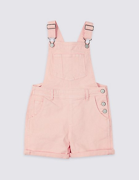 Denim Short Dungarees with Stretch (3-16 Years)