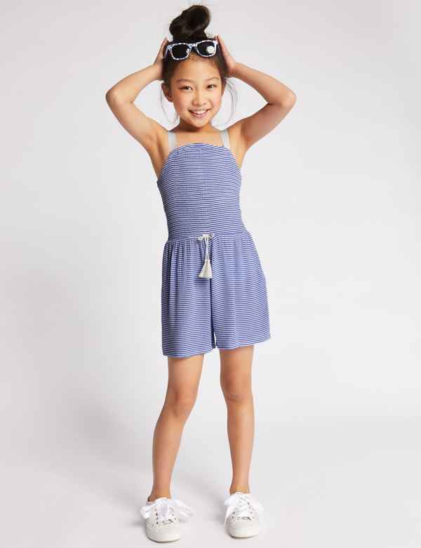 3e00a8cb5e8 Striped Playsuit (3-16 Years)
