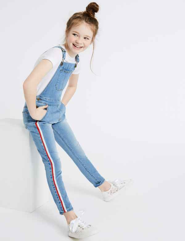 Cotton Dungarees with Stretch (3-16 Years) 5e1a4b4d3b7