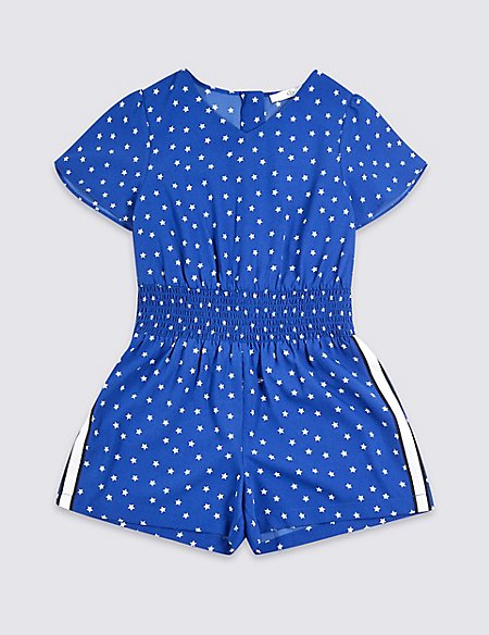 Star Print Playsuit (3-16 Years)