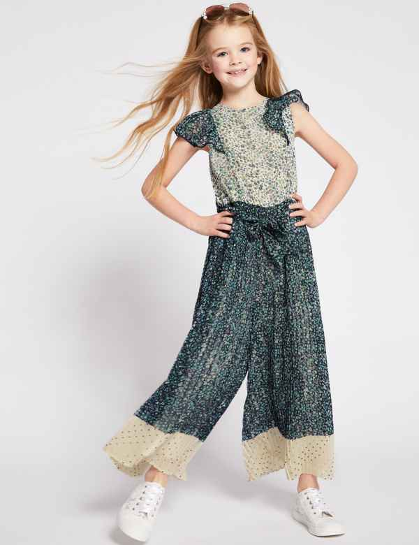 e0077a7f3b Floral Pleated Jumpsuit (3-16 Years)