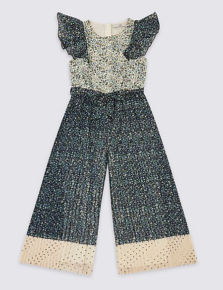Floral Pleated Jumpsuit (3-16 Years)