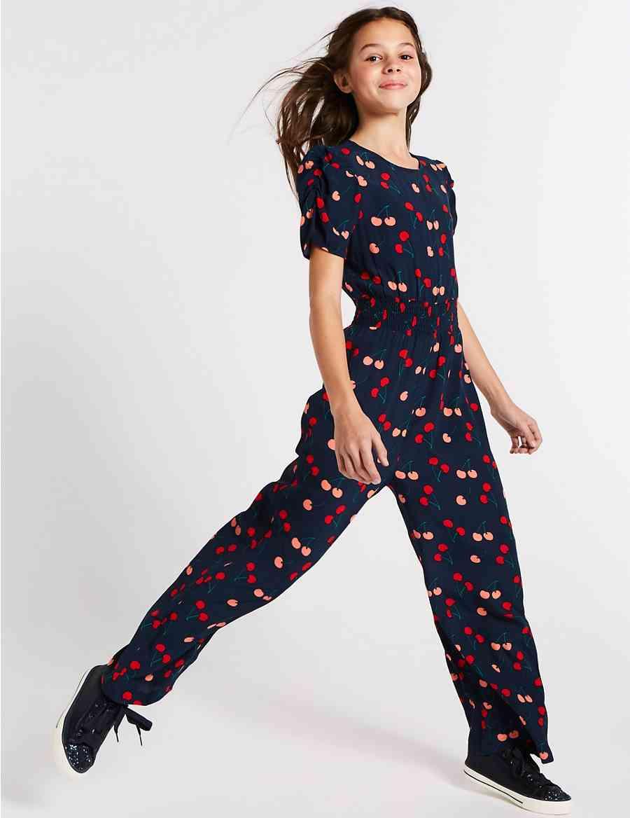 3ae248ee3c4 Cherry Print Jumpsuit (3-16 Years)