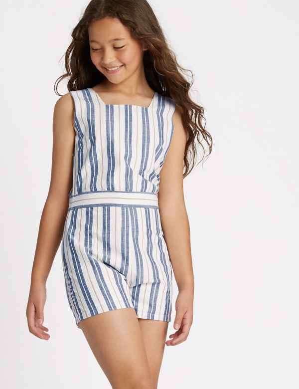 6be656f5cfa0 Striped Playsuit (3-16 Years)