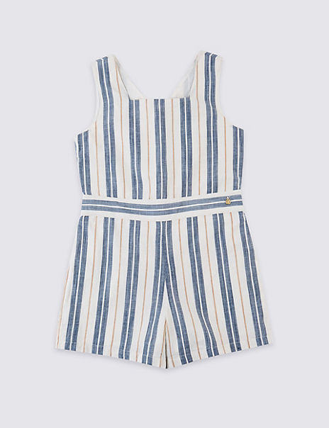 Striped Playsuit (3-16 Years)